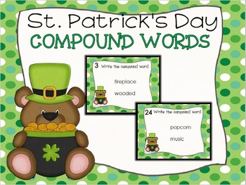 St. Patrick's Day Compound Words Task Cards