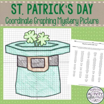 St. Patrick's Day Coordinate Graphing Ordered Pairs Myster