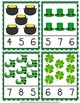 St. Patrick's Day Count and Clip Cards Numbers 1-12