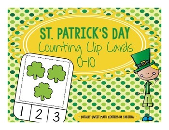 St. Patrick's Day Counting Frame Clip Cards