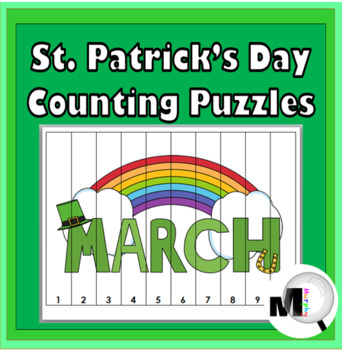 Counting Puzzles & Skip Counting - St. Patrick's Day Math