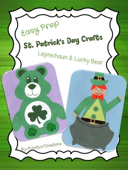 St. Patrick's Day Crafts Leprechaun & Lucky Bear