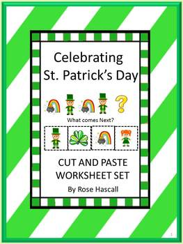 St. Patrick's Day Morning Work Math & Literacy Cut and Pas