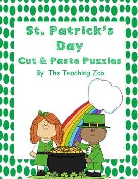 St. Patrick's Day Cut & Paste Puzzles