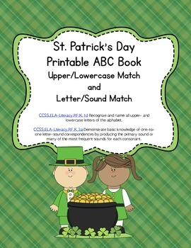 St. Patrick's Day Letter Sound Match Printable Book (Commo