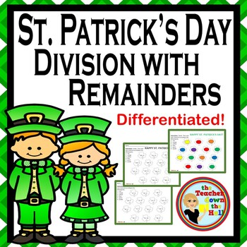 St. Patrick's Day Division w/ Remainders - 2 Different Levels!