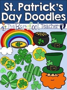 St. Patrick's Day Doodles Clip Art