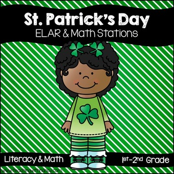 St. Patrick's Day Word Work and Math QR Code Stations (10