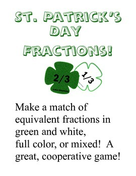 St. Patrick's Day Equivalent Fractions (Ratios) Cooperativ