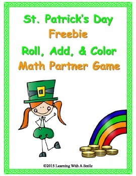 St. Patrick's Day FREEBIE ~  Roll, Add, & Color ~ Partner
