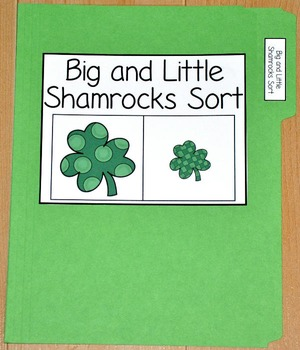 "St. Patrick's Day File Folder Game--""Big and Little Shamro"