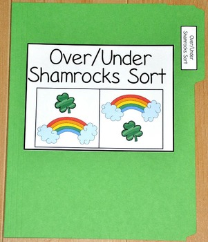 "St. Patrick's Day File Folder Game--""Over and Under Shamro"