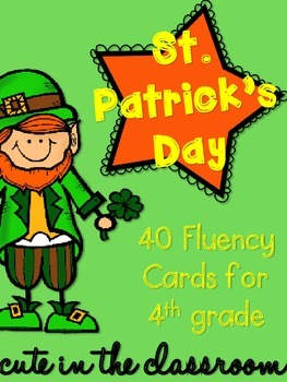 St. Patrick's Day Fluency Cards