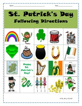 St. Patrick's Day Follow Directions Activity