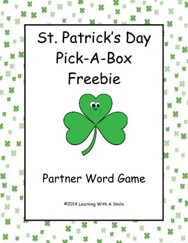 St. Patrick's Day (Freebie) ~ Partner Game ~ Pick-A-Box ~