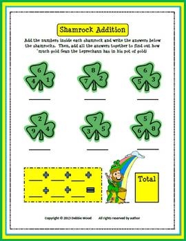 St. Patrick's Day Freebie:  Shamrock Addition