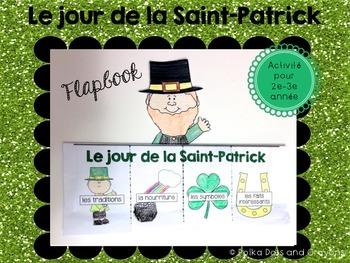 St. Patrick's Day French Flapbook craftivity (Le jour de l