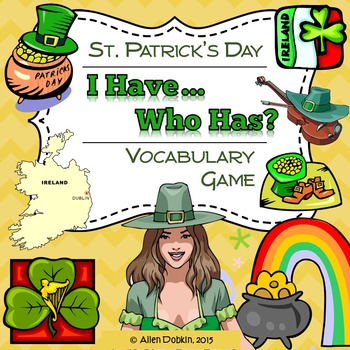 St Patrick's Day Game Primary Middle or Secondary English