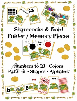 St. Patrick's Day - Gold & Shamrocks Memory Pieces - Color