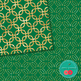 St Patrick's Day Green and Gold Glitter Digital Papers {Co
