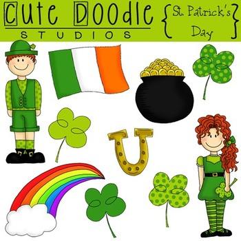 St. Patrick's Day {Combo} Digital Clip Art & Black Line Stamps