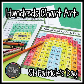 St. Patrick's Day Hundreds Chart Art (Mystery Picture)