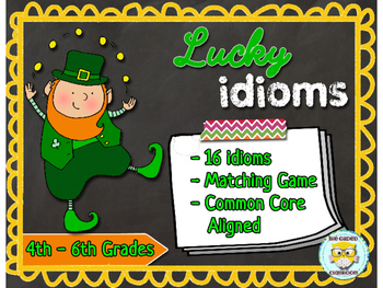 Idioms Task Cards & Matching Game
