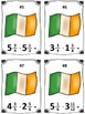 St. Patrick's Day Irish Flag Mixed Number Subtraction Math
