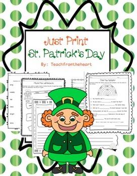 St. Patrick's Day-Just Print!