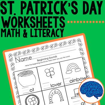 St. Patrick's Day Kindergarten Printable Pack- Math & Lite