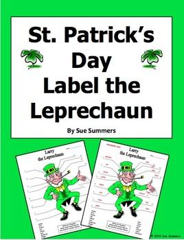St. Patrick's Day Label the Leprechaun Body Parts Activity