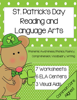 Kindergarten St. Patrick's Day Reading Centers and Lessons