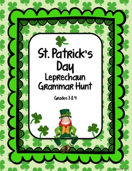 St. Patrick's Day Leprechaun Grammar Hunt: a fun seasonal