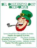 St. Patrick's Day Leprechaun Mini Unit Math Reading Writin