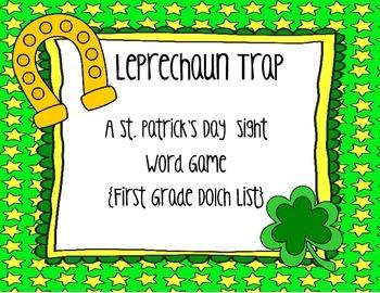 St. Patrick's Day Leprechaun Trap {First Grade Printable S