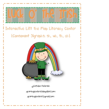 "St. Patrick's Day ""Lift the Flap"" Consonant Digraph  Liter"