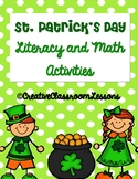 St. Patrick's Day Kindergarten Literacy and Math Printable