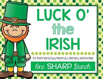 St. Patrick's Day - Luck o' the Irish - Math & Literacy