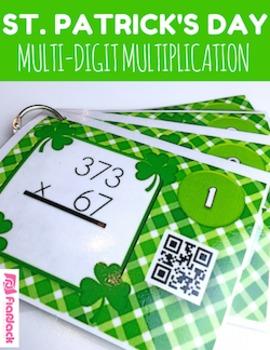 St. Patrick's Day MULTIPLICATION QR Code Task Card Fun
