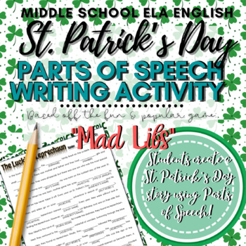 St. Patrick's Day Wacky Words! Fill-in-the-Blank with Part