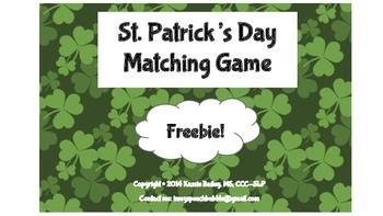 St. Patrick's Day Matching Game-Freebie