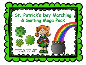 St. Patrick's Day Matching and Sorting Mega Pack