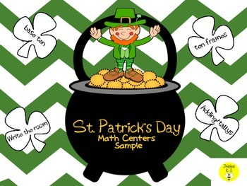 St. Patrick's Day Math Centers Sample