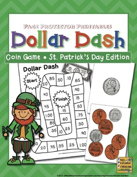 St. Patrick's Day Math: Coins and Dollars {Page Protector