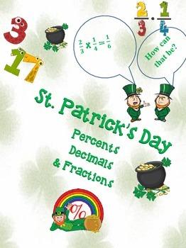 St. Patrick's Day-Percents, Decimals, Fractions