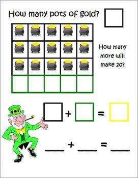 St. Patrick's Day ~ Math Common Core Mats ~ Making 20 ~ Ma