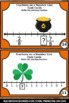 Fractions on a Number Line Task Cards St. Patrick's Day 3r