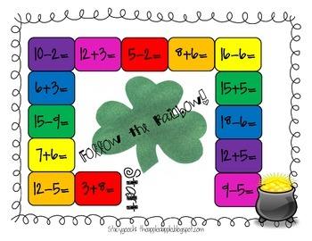 St. Patrick's Day Math Game Freebie!