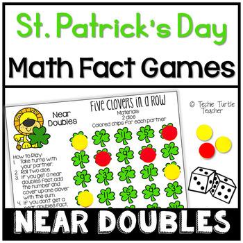 St. Patrick's Day Math Games - Near Doubles (Doubles Plus
