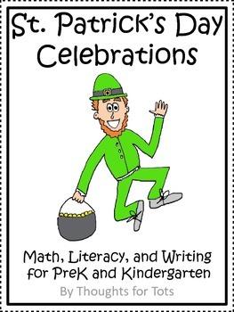 St. Patrick's Day Math, Literacy, and Writing, PreK and Ki